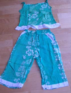 Clothing manufacturer online supply children summer pant and top set